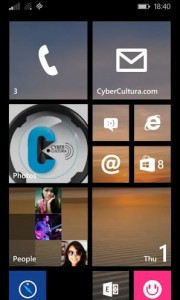 Windows Phone 8.1 change tiles background