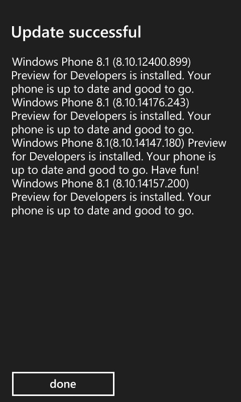 Windows Phone 8.1 update summary